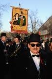 BURIAL OF THE SARDINE Carnival. Madrid .SPAIN Royalty Free Stock Photos
