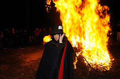 BURIAL OF THE SARDINE Carnival. Madrid .SPAIN Stock Photos