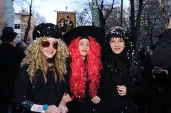 BURIAL OF THE SARDINE Carnival. Madrid .SPAIN Royalty Free Stock Photo
