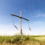 Burial site in field. Stock Photos