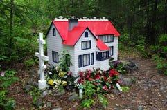 Burial spirit houses. Сemetery Royalty Free Stock Photos