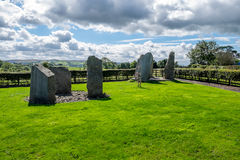 Burial stones in a peaceful area Stock Image