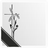 Burial. Template for obituary or funeral with black ribbon Royalty Free Stock Photo