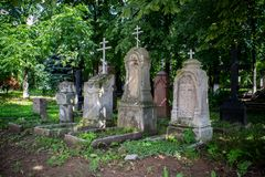 Ancient Orthodox graves Royalty Free Stock Images