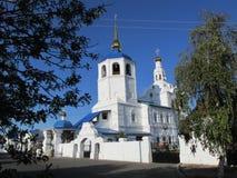 Buriatia, Ulán Udé, catedral de Odigitrievsky en el verano Imagenes de archivo