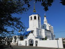 Buriatia, Ulán Udé, catedral de Odigitrievsky en el verano Imagen de archivo libre de regalías