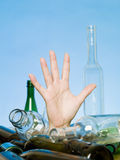 Buried in bottles Royalty Free Stock Photos