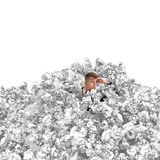 Buried businessman Royalty Free Stock Photo