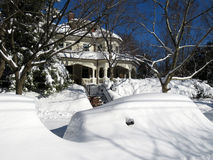 Buried Car and Home in Washington DC Stock Photography