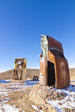 Buried Cars. At the International Car Forest in Gold Field Nevada Stock Photos