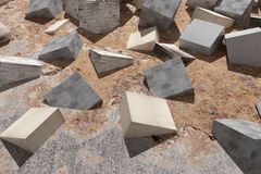 Buried cubes Stock Image