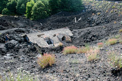 Buried House on Mt. Etna, Sicily Royalty Free Stock Photos