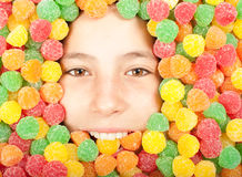 Buried on jellybeans Stock Photography