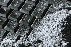 Buried keyboard Royalty Free Stock Image