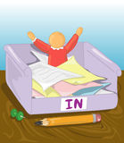 Buried in paperwork stock illustration