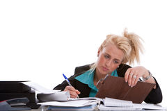 Buried in paperwork Stock Photography