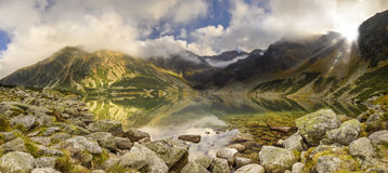 Buried in Poland. Track valley in Poland in the Tatras Stock Images
