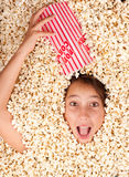 Buried in popcorn Stock Photos