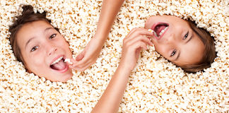 Buried in popcorn Royalty Free Stock Photos