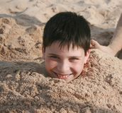 Buried in Sand Royalty Free Stock Photography