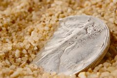 Buried treasure Stock Photo