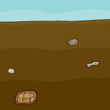 Buried Treasure Chest Stock Images