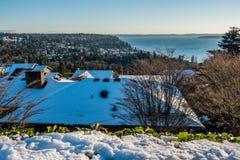 Burien i vinter Fotografering för Bildbyråer