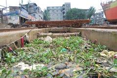 Buriganga河,达卡城市 库存图片