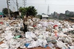 Buriganga-Flussverseuchung in Dhaka Stockbilder