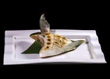 BuriKama Shioyaki teriyaki , japanese grilled fish. Royalty Free Stock Images