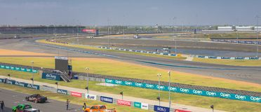 Buriram Таиланд Гонки гоночной машины на следе Стоковые Фотографии RF