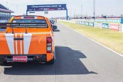 Buriram Таиланд Гонки гоночной машины на следе Стоковые Изображения RF