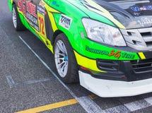 Buriram Таиланд Гонки гоночной машины на следе Стоковое Фото