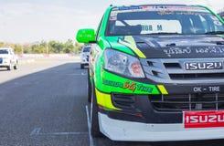 Buriram Таиланд Гонки гоночной машины на следе Стоковая Фотография