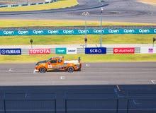 Buriram Таиланд Гонки гоночной машины на следе Стоковое фото RF