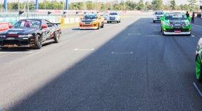 Buriram Таиланд Гонки гоночной машины на следе Стоковое Изображение