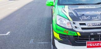 Buriram Таиланд Гонки гоночной машины на следе Стоковые Изображения