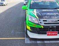 Buriram Таиланд Гонки гоночной машины на следе Стоковое Изображение RF