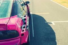 Buriram Tailandia Corsa di macchina da corsa su una pista Fotografia Stock