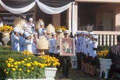Buriram, Tailandia - 26 de octubre de 2017: Oficial tailandés del gobierno adentro Imagenes de archivo