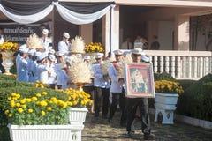 Buriram, Tailandia - 26 de octubre de 2017: Oficial tailandés del gobierno adentro Imagen de archivo libre de regalías