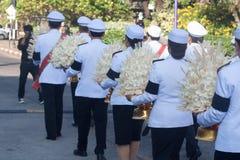 Buriram, Tailandia - 26 de octubre de 2017: Oficial tailandés del gobierno adentro Imágenes de archivo libres de regalías