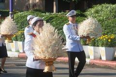 Buriram, Tailandia - 26 de octubre de 2017: Oficial tailandés del gobierno adentro Fotos de archivo libres de regalías