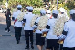 Buriram, Tailandia - 26 de octubre de 2017: Oficial tailandés del gobierno adentro Imagen de archivo