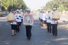 Buriram, Tailandia - 26 de octubre de 2017: Oficial tailandés del gobierno adentro Fotos de archivo