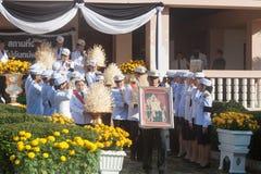 Buriram, Tailandia - 26 de octubre de 2017: Oficial tailandés del gobierno adentro Fotografía de archivo libre de regalías