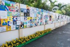 Buriram, Tailandia - 26 de octubre de 2017: Portrai tailandés de la pintura de los artistas Foto de archivo libre de regalías