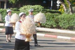 Buriram Tajlandia, Październik, - 26, 2017: Tajlandzki rządowy oficer wewnątrz Zdjęcia Stock
