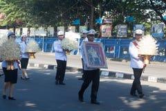 Buriram Tajlandia, Październik, - 26, 2017: Tajlandzki rządowy oficer wewnątrz Obrazy Royalty Free