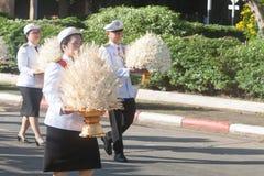 Buriram Tajlandia, Październik, - 26, 2017: Tajlandzki rządowy oficer wewnątrz Fotografia Stock